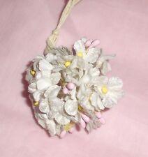 s.White VINTAGE style Velvet FORGET ME NOT flowers/pick Dolls, Crafts scrapbook