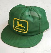 Vintage JOHN DEERE Snapback Trucker Hat Patch Cap Made in the USA