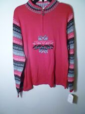 Breckenridge Ladies Holiday Pullover Sweater Size XL Color Red NWT MSRP $76