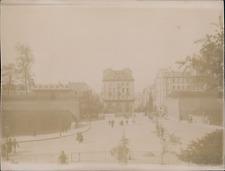 France, Brest, la Place des Portes  Vintage citrate print,  Tirage citrate