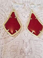 KENDRA SCOTT Alexandra MAGENTA  Gold Plated Large Teardrop Earrings $65