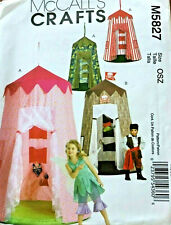 McCalls M5827 Childs Play Canopy Fantasy Tents Uncut Sewing Pattern Summer Fun