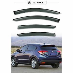Window Visor Sun Rain Guards Dark Smoke, 4-Piece Set for 2016-2020 Honda HR-V