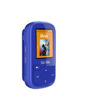 SanDisk Clip Sport Plus 16gb Blue Wireless Bluetooth Mp3 Player FM Radio Music