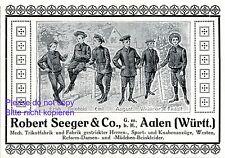 Kindermode Seeger Aalen Reklame 1916 Trikot Strickmode Knabenanzug Werbung +