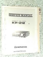 Pioneer kp-212 service manual original repair book stereo car radio tape deck