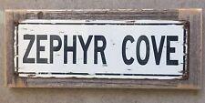 Zephyr Cove Heavenly Lake Tahoe Fishing Poster Vintage Metal Sign Home Decor
