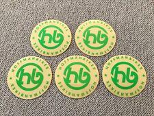 """NEW 5 x Hoffman Bikes BMX Stickers / Decal Green Clear HB 2"""" Sticker Mid School"""