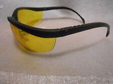 Crews High Impact Yellow Lens Black Frames Safety Glasses 99.9% UV Protection