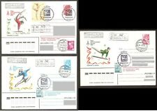 Summer Olympic Women Gymnastic 1980 3 stationary+special postmarks G277 REGISTER