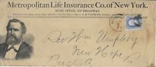 1874 Metropolitan Life Ins. Co. Policy Letter from Pottsville, PA to New Hope PA