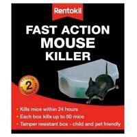 2 x Rentokil Fast Action Mouse Killer Rodenticide Rodent Trap Safe & Easy to Use