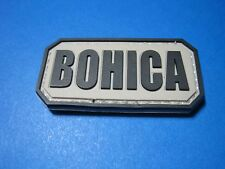 "TACTICAL MORALE PATCH ""BOHICA"" PVC WITH HOOK BACK B.O.H.I.C.A. COMBAT MILITARY"
