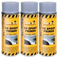 3 x 400ml 1K Grau Epoxy Primer Grundierung Spray Korrosionschutz Chamäleon