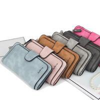 Lady Clutch Leather Wallet Long Card Holder Phone Bag Case Women Purse Handbag