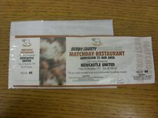 26/12/1997 billet: Derby County V Newcastle United [Matchday restaurant] (comple