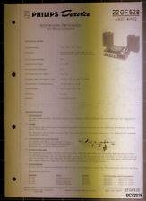 PHILIPS Service Dokumentation 22 GF 528, 08/1969, original + komplett