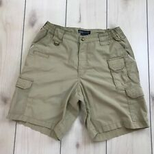 5.11 Tactical Cargo Shorts 32W Tan Beige Staining