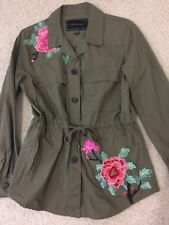 Ladies Jacket FOREVER NEW Label - NEVER WORN- Khaki with Embroidery Size 8