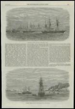 1868 Antiguo Irán Persia piratas navegando Golfo de impresión (181)