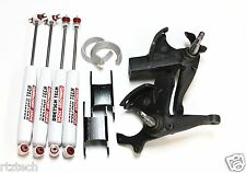 "S10 LIFT KIT 5.5"" X 4"" CROWN SUSPENSION SPINDLES DOETSCH TECH NITRO SHOCKS 2WD 1"