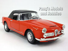 1960 Alfa Romeo 2600 Spider 1/24 Scale Diecast Metal Model by Welly - RED