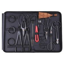 Bonsai Tool Set Carbon Steel 10-pc Kit Cutter Scissors Shears Tree W/ Nylon Case