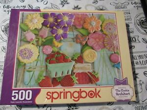 Springbok Jigsaw Puzzle - Springtime Cookies - 500 - Pieces - Flowers