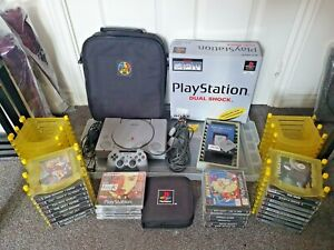Original Sony PlayStation One (PS1) console, games and accessories - huge bundle