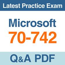 Microsoft 70-742 Identity with Windows Server 2016 Practice Exam Q&A PDF Test