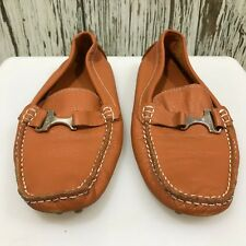 TODS Orange Shoes Moccasin Smart Casual Leather Men's Everyday UK 7 12508