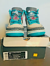 NIKE AIR JORDAN SPIZIKE 4 Neutral Grey/Vivid Pink-Cool Grey-Turbo Green6 used