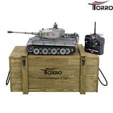 RC Panzer Tiger I. 360° Profi Version BB Metallausführung TORRO mit Holzkiste