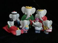 French Babar and Babar Family Figurines - PVC - Celeste, Cornelius, Children