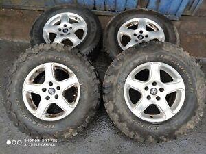 set of 4 alloy wheels wolfrace toyota 5x130
