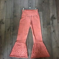 NEW Free People Movement High-Rise Flare Pants Leggings in Coral XS/S $97.12