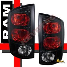 02-05 Dodge Ram 1500 03-05 Ram 2500 3500 Pickup Black Dark Smoke Tail Lights