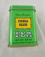 John Wagner Sons Tin Container Green Formosa Oolong Tea 5/8 oz Empty