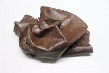 Italian thin Lambskin leather hide hides skin skins ANTIQUED BROWN PRINTED  7sqf