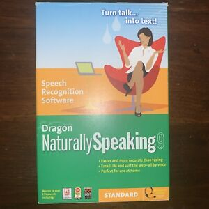 Dragon Naturally Speaking 9 Standard SPEECH RECOGNITION SOFTWARE