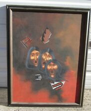 ORIGINAL ART PAINTING CF CHARLES LOVATO Portraits Remnants & Fragments Listed