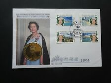 CON001 QEII 40th Anniversary accession to the Throne stamp & Coin cover