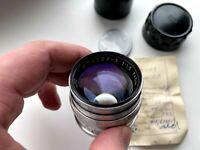1961! Soviet Jupiter 3 5cm 50mm f/1.5 f1,5 Red P Zorki Lens, M39