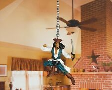 PIRATES OF THE CARIBBEAN JACK SPARROW Ceiling Fan Pull Light Lamp Chain A146_A