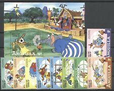 Walt Disney, Fu?ball-WM 1982 - Anguilla - 501-509, Bl.45 ** MNH