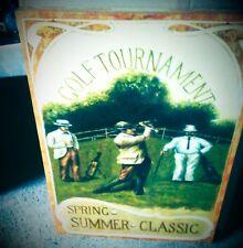 Leinwand Bild Golf Tournament Keilrahmen 70x50 cm Geschenk in Vintage Wand Deko