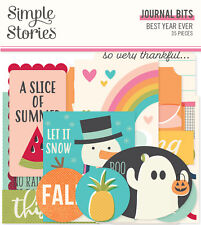 Simple Stories - Best Year Ever - Journal Bits Ephemera 35/pk NEW!