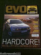 EVO MAGAZINE # 60 - M3 CSL v 911 - GT3 v IMPREZA STi SPEC C - OCT 2003