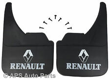 MUDFLAPS FOR RENAULT MODELS UNIVERSAL FIT MUD FLAP CLIO MEGANE LAGUNE KANGOO ETC
