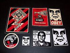 SHEPARD FAIREY OBEY GIANT Sticker set 2 - Propaganda, Amplifier, Toilet Paper